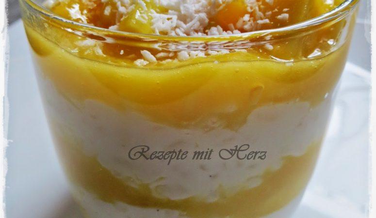 Milchreis mit Mango ♡