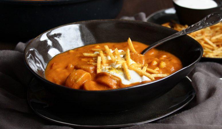 "Currywurst – Suppe mit ""Pommes"""