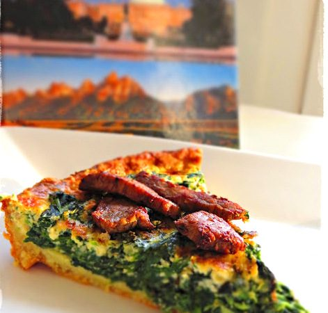 Steak – Spinat – Tarte