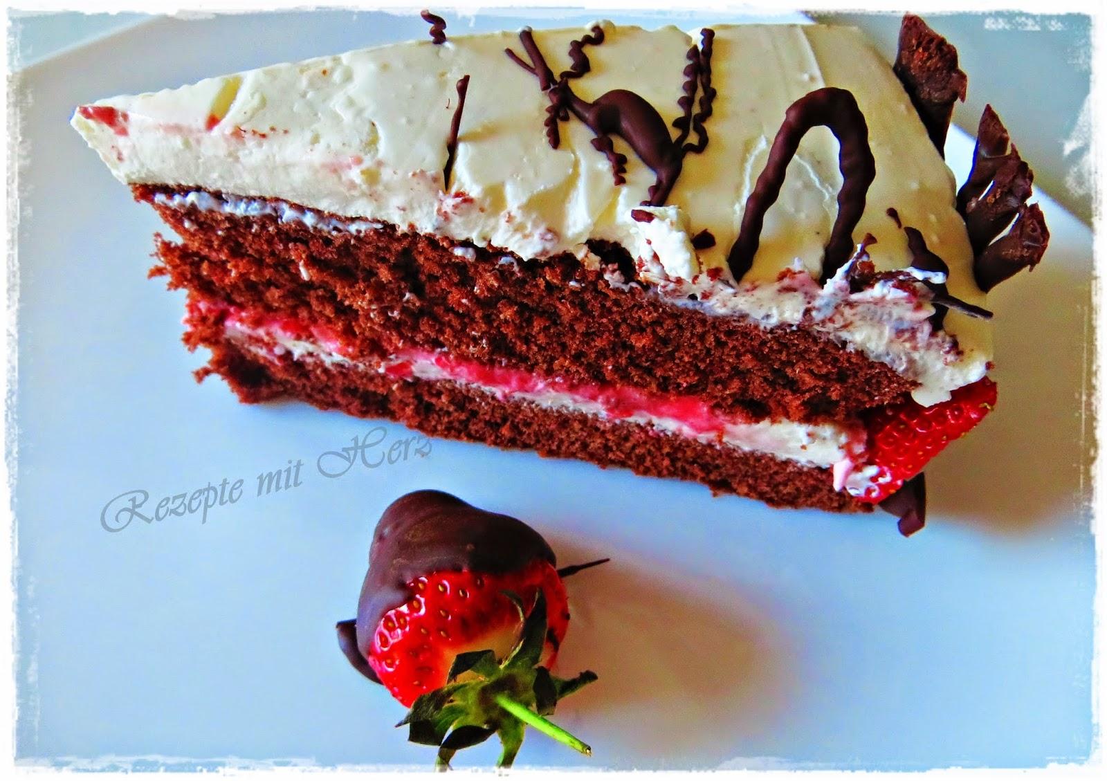 schoko erdbeeren dessert