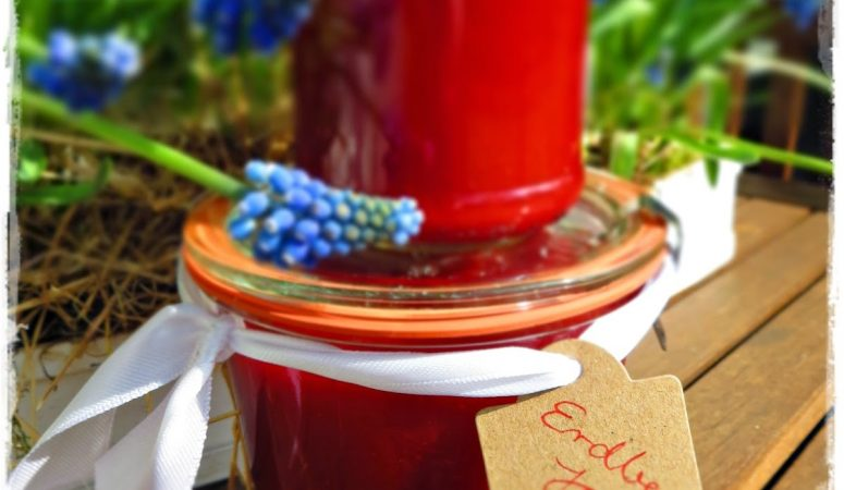Erdbeer Jam | Erdbeermarmelade mit Holunder