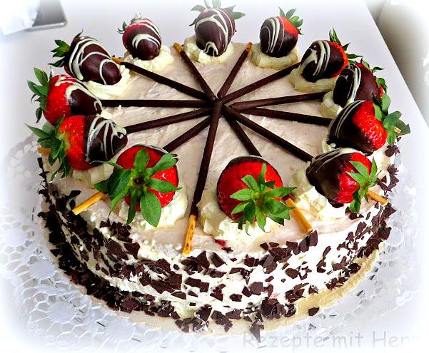Erdbeer Mascarpone Torte