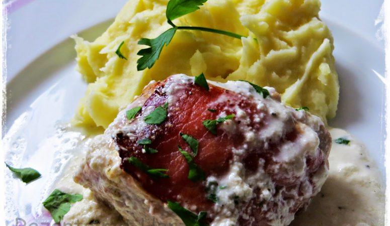 Putenfilet in Frischkäsesoße und Kartoffel-Knoblauch-Püree