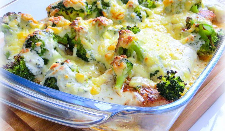 Putenschnitzel überbacken mit Brokkoli