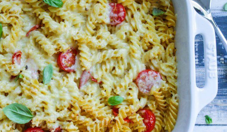 Tomaten-Mascarpone-Nudelauflauf