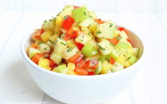 Apfel-Mango-Salsa