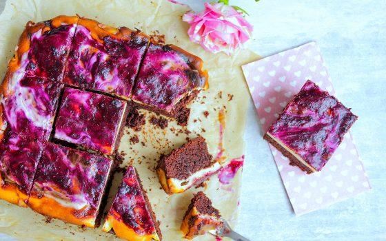 Beeren-Brownie-Cheesecake