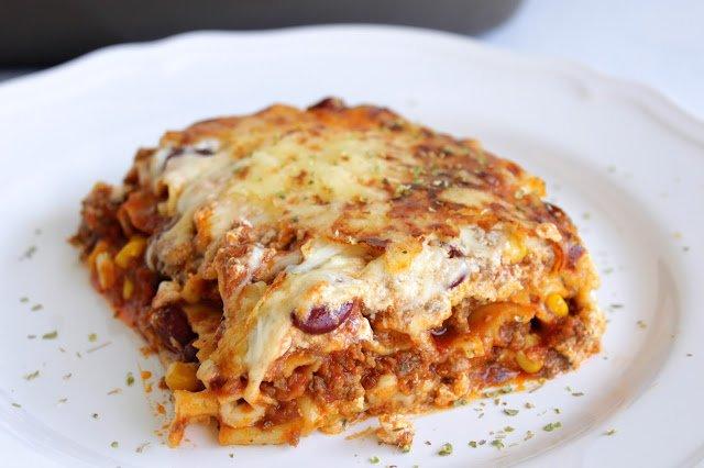 Mexikanische Lasagne | Chili con Carne Lasagne