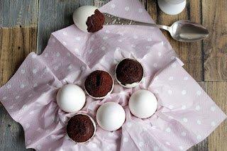 Brownies im Ei gebacken