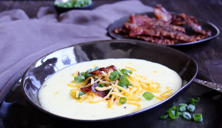 Baked Potatoe Soup | Backkartoffel Suppe