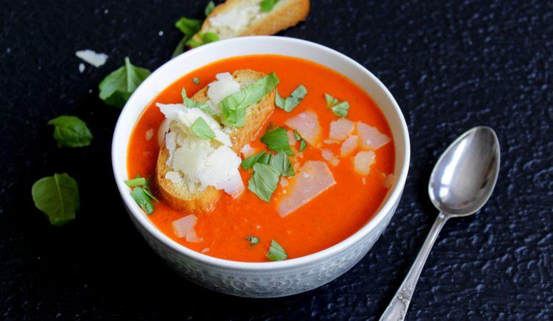 Cremige Tomaten – Basilikum – Suppe