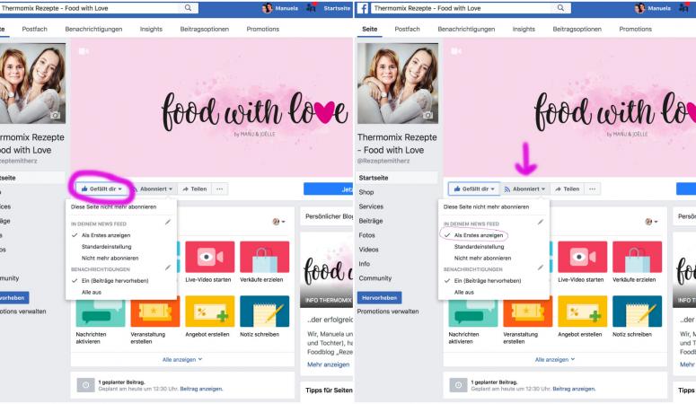 ❣️ SO seht ihr weiterhin unsere Facebook Postings ❣️