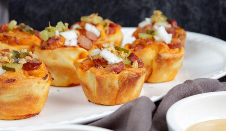 Gefüllte Hot Dog Muffins
