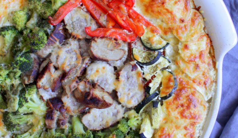 Schlemmerplatte | Gemüse – Kartoffel – Gratin mit Schweinefilet