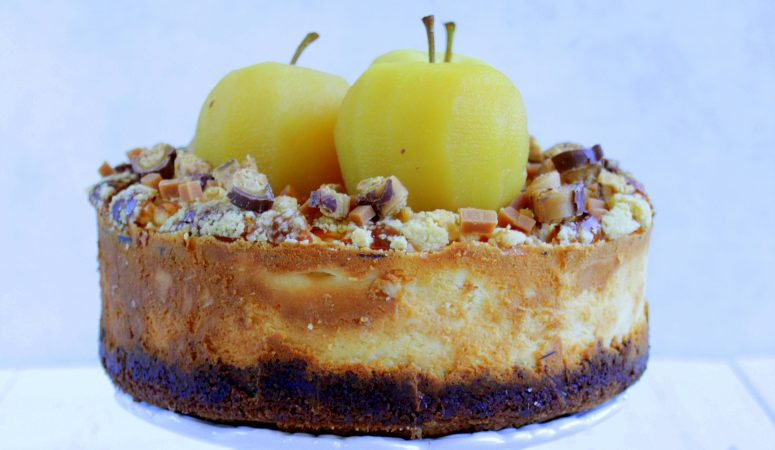 Karamell Apfel Cheesecake