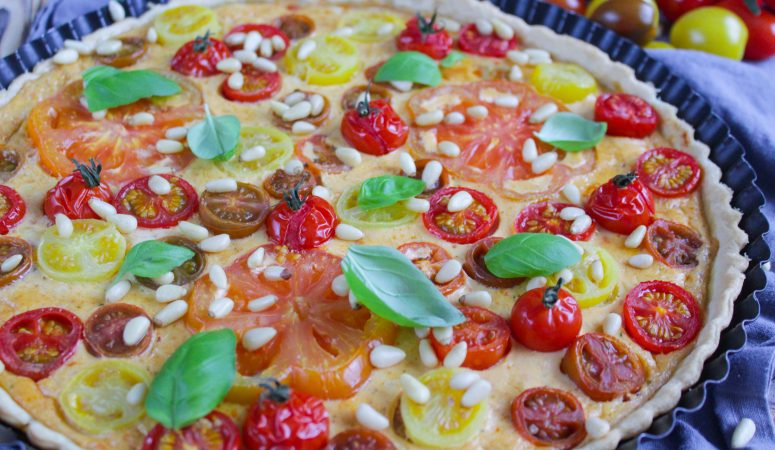 Bunte Tomaten-Tarte