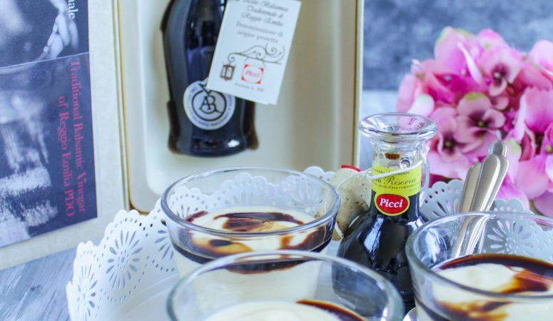Vanillecreme mit Balsamico