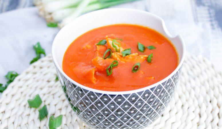 Chinesische Tomatensuppe | Tomatensuppe mit Hühnerfleisch