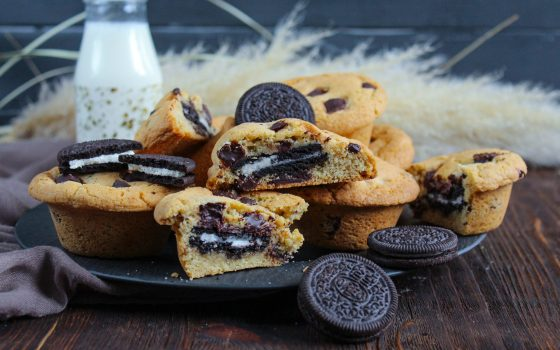Oreo ® Stuffed Chocolate Chip Cookies – gefüllte Cookies mit Oreos ®