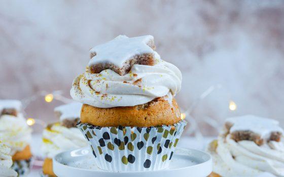 Zimtstern Cupcakes